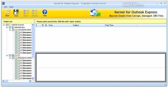 Repair DBX File Screenshot 3