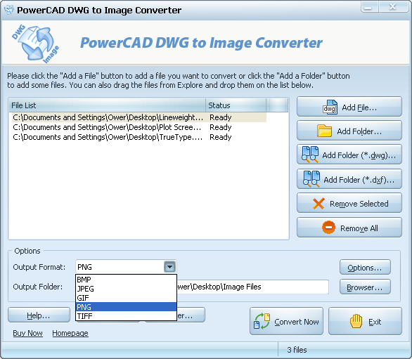 PowerCAD DWG to Image Converter Screenshot 1