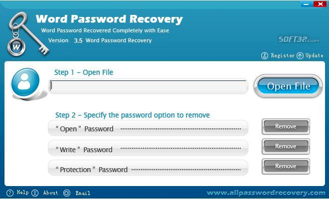 All Password Recovery Screenshot