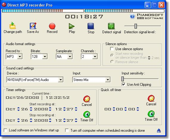Direct MP3 Recorder Free Screenshot 1
