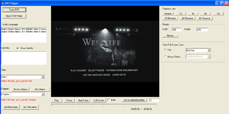 VISCOM DVD Player playback SDK ActiveX Screenshot