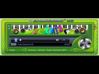 EarthMediaCenter online music radio Screenshot