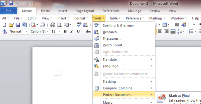 Classic Menu and Toolbar for Microsoft Office 2010 Screenshot