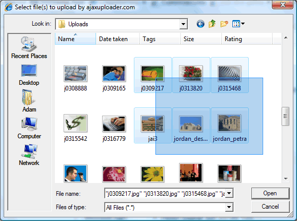PHP File Uploader Screenshot