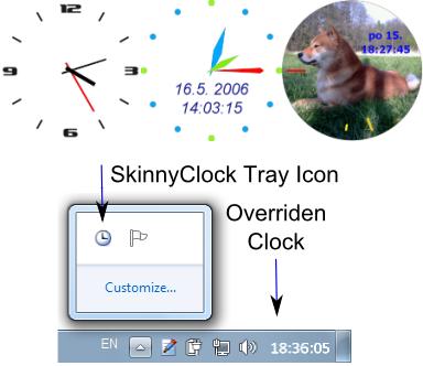 Skinny Clock Screenshot