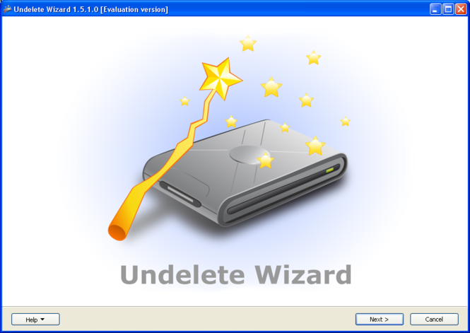 Undelete Wizard Screenshot