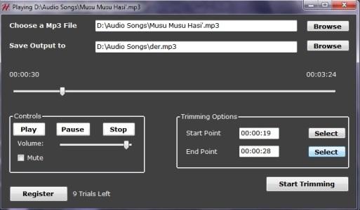 Hash Mp3 Cutter Screenshot 1