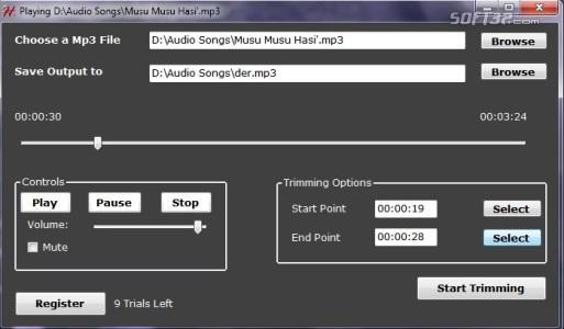 Hash Mp3 Cutter Screenshot 2