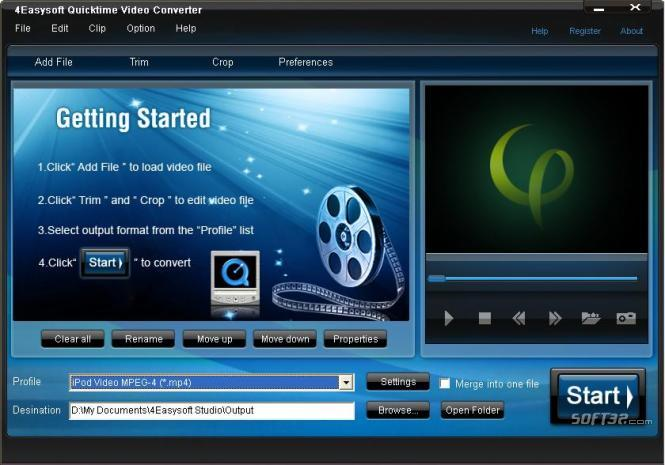 4Easysoft Quicktime Video Converter Screenshot 3