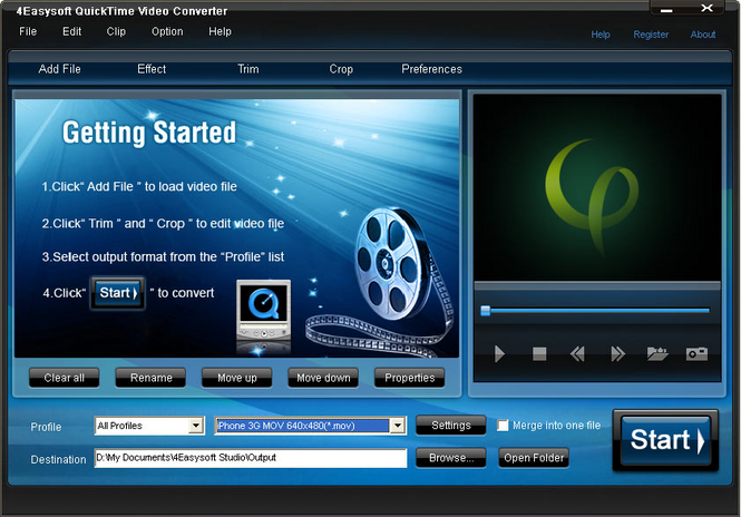 4Easysoft Quicktime Video Converter Screenshot 1