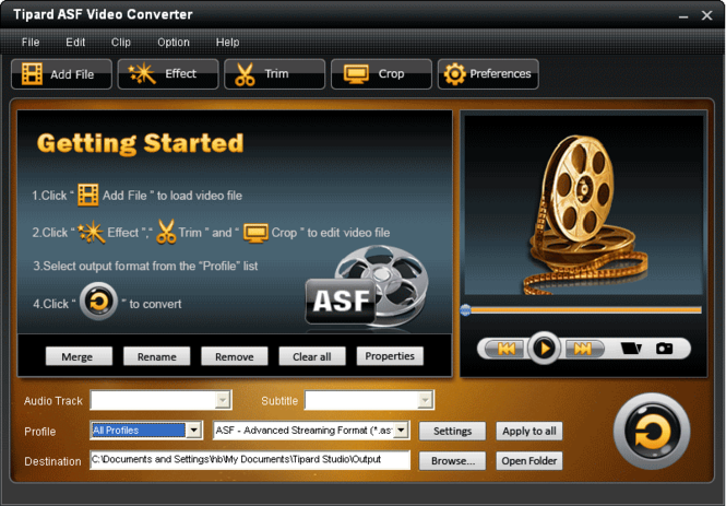 Tipard ASF Video Converter Screenshot