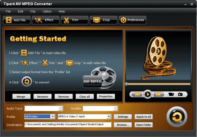 Tipard AVI MPEG Converter Screenshot 3