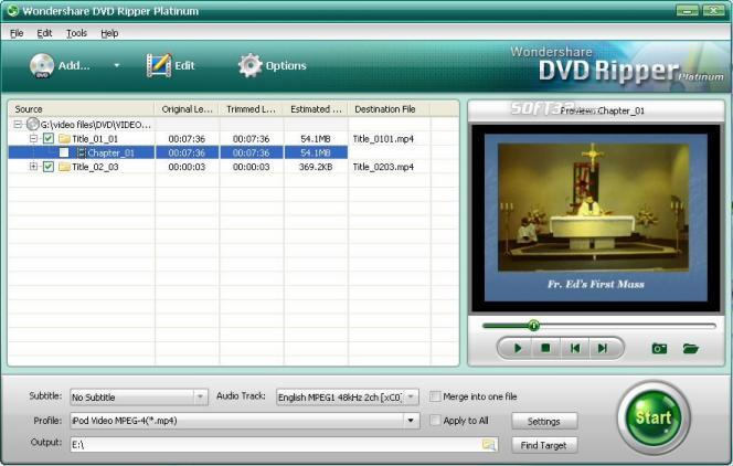 Wondershare DVD Ripper Platinum Screenshot 1