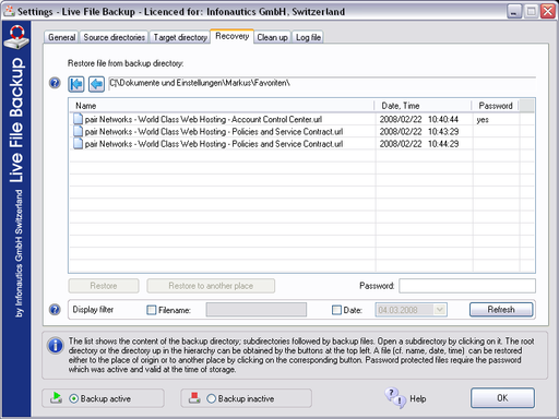 Live File Backup Screenshot 8