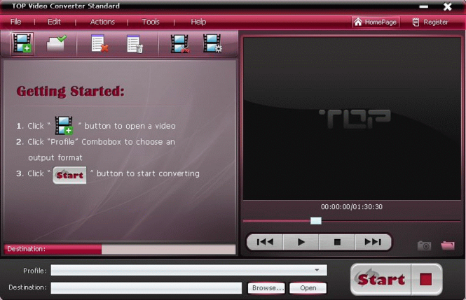 TOP Video Converter Standard Screenshot 1