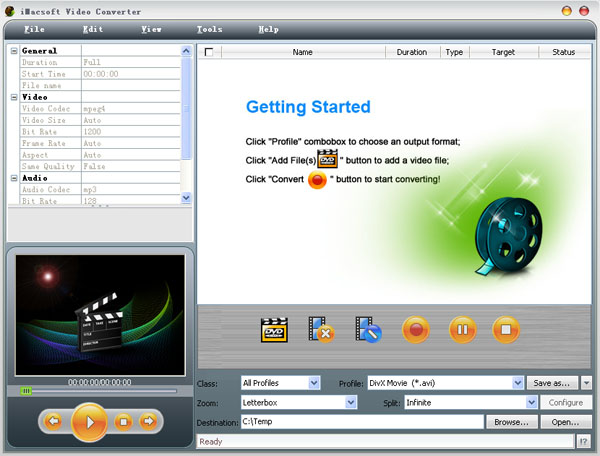 iMacsoft Video Converter Screenshot 1