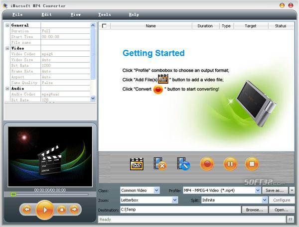 iMacsoft MP4 Converter Screenshot 2