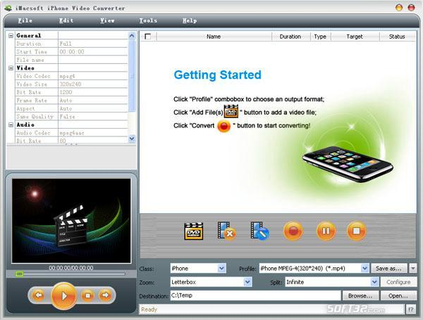 iMacsoft iPhone Video Converter Screenshot 2