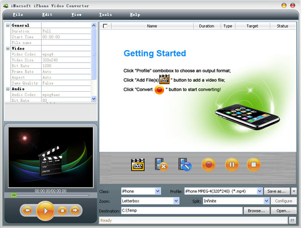 iMacsoft iPhone Video Converter Screenshot