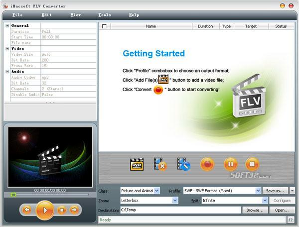 iMacsoft FLV Converter Screenshot 2