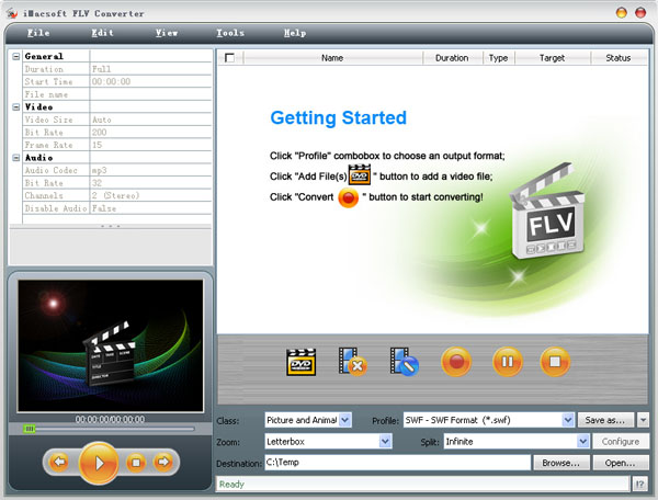 iMacsoft FLV Converter Screenshot 1
