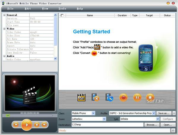 iMacsoft Mobile Phone Video Converter Screenshot 2