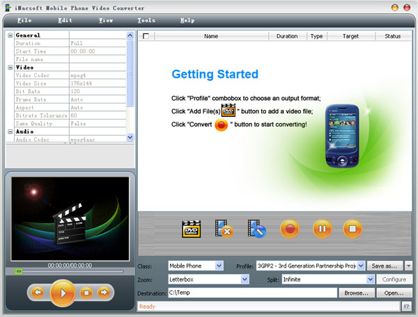 iMacsoft Mobile Phone Video Converter Screenshot 1