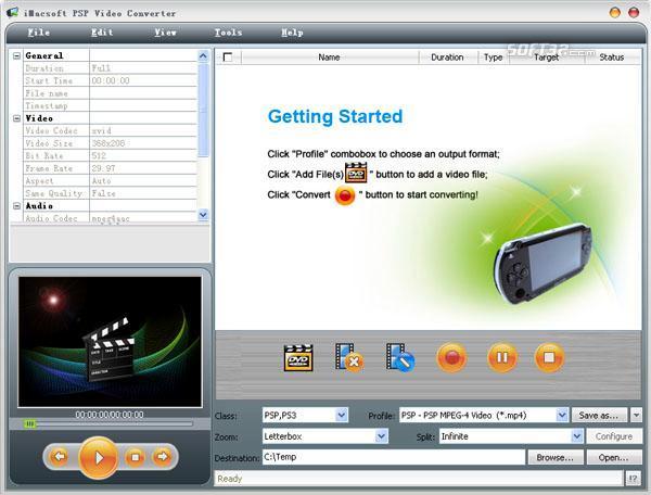iMacsoft PSP Video Converter Screenshot 2