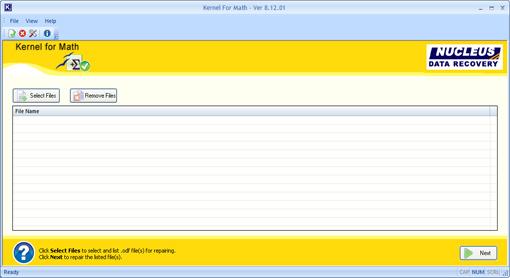 Math ODF Recovery Screenshot 1