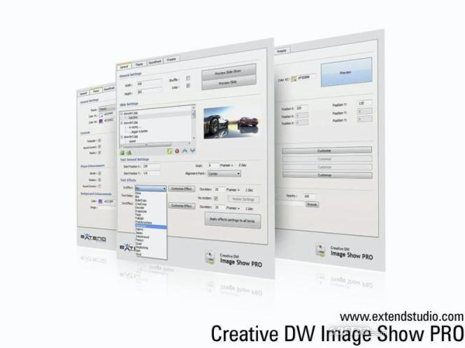 Creative DW Image Show Pro Screenshot 2
