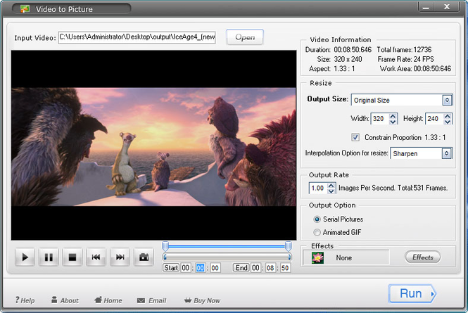 Aoao Video to Picture Converter Screenshot 1