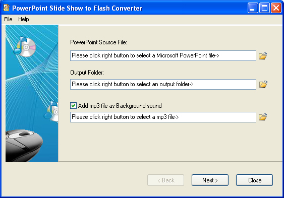 PowerPoint Slide Show to Flash Converter Screenshot