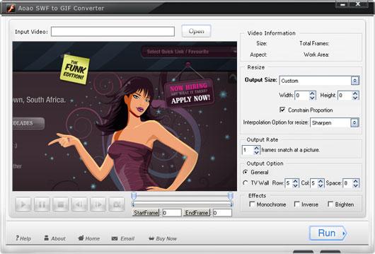 Aoao SWF to GIF Converter Screenshot 2