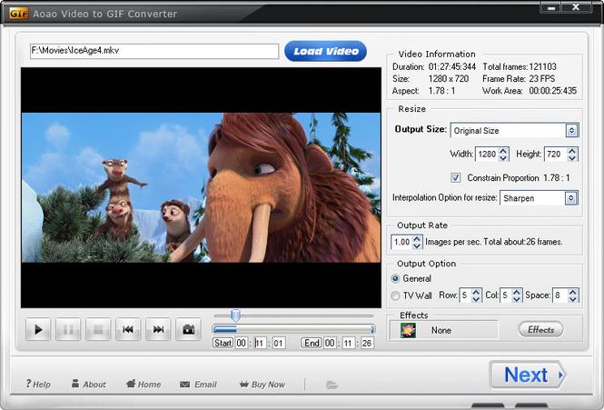 Aoao Video to GIF Converter Screenshot 1