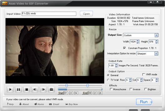Aoao Video to GIF Converter Screenshot 2