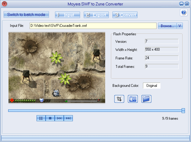 Moyea SWF to Zune Converter Screenshot