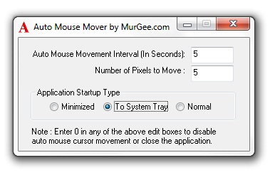 Auto Mouse Mover Screenshot
