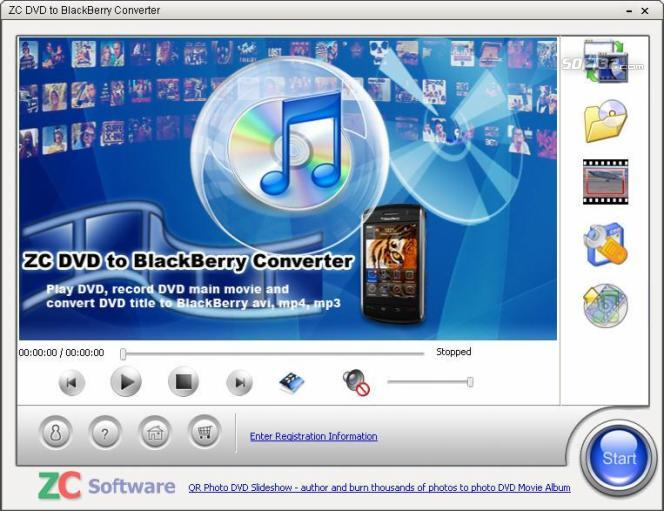 ZC DVD to BlackBerry Converter Screenshot