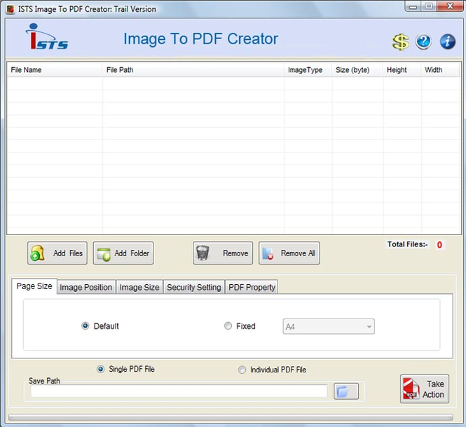 Pictures to PDF Converter Screenshot