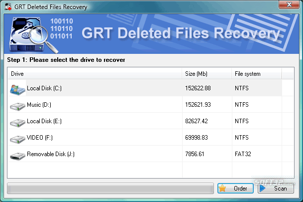GRT Deleted Files Recovery Screenshot 2