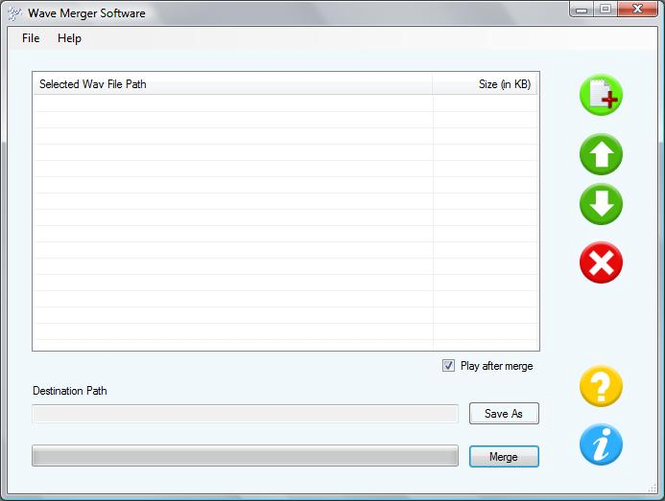 Software to Joining Wav Files Together Screenshot