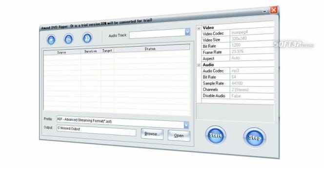 Amond DVD Audio Ripper Screenshot 1