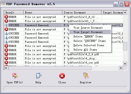 PDF Password Recovery COM SDK Screenshot