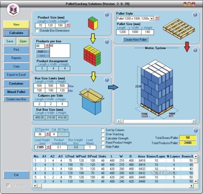 PalletStacking Screenshot