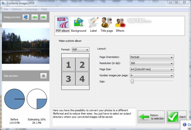 Contenta Images2PDF Screenshot 2