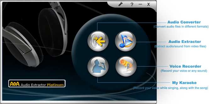 AoA Audio Extractor Platinum Screenshot