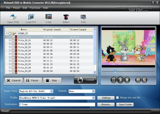 Nidesoft DVD to Mobile Converter Screenshot 2