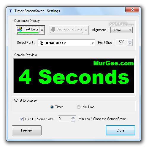 Timer ScreenSaver Screenshot 2