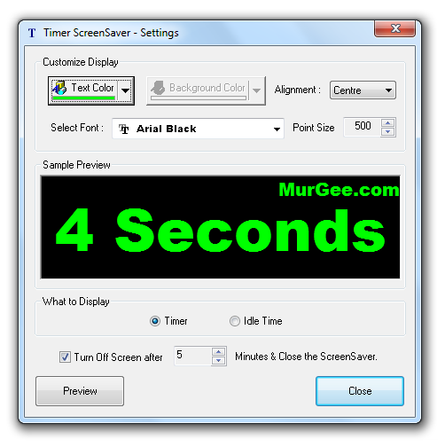 Timer ScreenSaver Screenshot