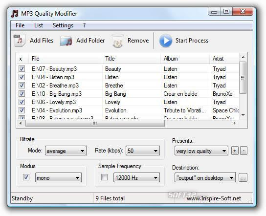 MP3 Quality Modifier Screenshot 2